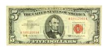 Rare 1963 $5 Red Seal United States Note
