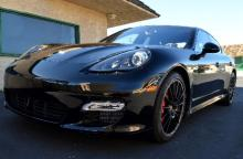 2013 Porsche Panamera Turbo Fully Loaded Absolutely Flawless Only 1400 Original Miles Black On Black Cost Just Under $200,000 New This is A One Of A Kind As It Is Just Like New Inside And Out VIN Number WP0AC2A70DL090418-P-
