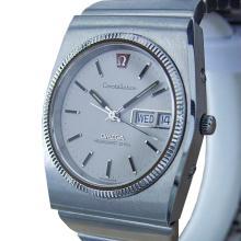 *Omega Constellation Mega Quartz Swiss Made Mens Stainless St c1970s Watch (SI MX168)