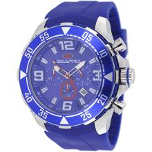 *Seapro Men's Diver Stainless Steel Case, Silicone Strap, Blue Chronograph Dial, Quartz Movement, Scratch Resistant Mineral, Water Resistant (DM SP1126)