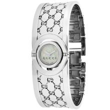 *Gucci Women's Twirl Stainless Steel Case, Stainless Steel Bracelet, White Dial, Quartz Movement, Scratch Resistant Sapphire, Water Resistant (DM YA112510)