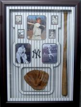 Museum Piece Authentic Dimaggio Autograph with Early Bat & Glove Global Certified