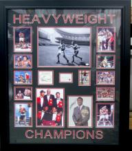 Heavyweight Champs Ali, Foreman, Frazier, Norton and Holmes Autographs Best Boxers in the World Global Certified