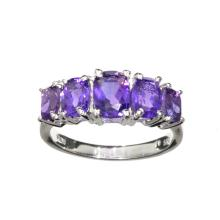 APP: 0.9k Fine Jewelry 2.25CT Oval Cut Purple Amethyst Quartz And Platinum Over Sterling Silver Ring