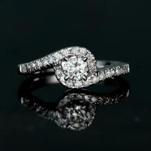 APP: 2.5k *Fine Jewelry 14 kt. White Gold, 0.50CT Round Brilliant Cut Diamond Engagement Ring (VGN A-59)