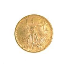 *1923 $20 U.S. Saint Gaudens Gold Coin (DF)