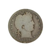Rare 1896-O Barber Quarter Dollar Coin