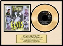 ELVIS PRESLEY ''Are You Lonesome Tonight'' Gold Record