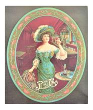 Rare Vintage Collectable Pepsi Cola Advertising Poster (10.5'' x 12.5'') (Dimensions Are Approximate)