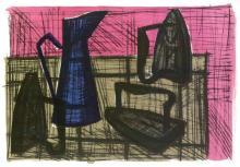 Bernard Buffet Lithograph ''''Irons'''' 18 x 24 Paper Image