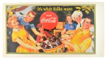 Collectable Coca Cola Advertising Poster (17.5'' x 9.5'') (Dimensions Are Approximate)