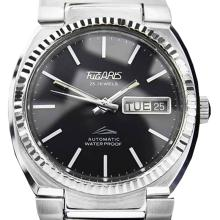 *Tugaris Automatic Black Stainless Steel Watch