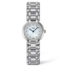 *Longines Women's Primaluna Stainless Steel Case, Stainless Steel Bracelet, White Mother of Pearl Dial, Quartz Movement, Scratch Resistant Sapphire, Water Resistant (DM L81090876)