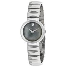 *Movado Women's Classic Stainless Steel Case, Stainless Steel Bracelet, White Mother of Pearl Dial, Quartz Movement, Scratch Resistant Sapphire, Water Resistant (DM 607048)