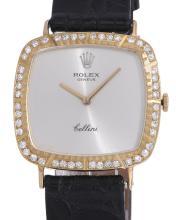 *Cellini 18k Gold Rolex With Diamond Bezel