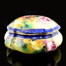 9.5 Inch Royal Blue Porcelain Box