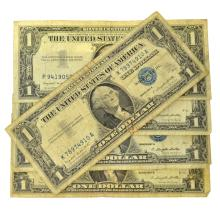 (5) 1957 $1 U.S Silver Certificates