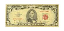 1963 $5 Red Seal United States Note