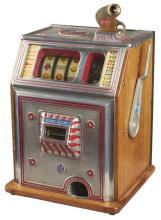 Rare Antique 5¢ Watling Blue Seal Single Jackpot Slot -P-