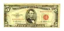 Rare 1953 $5 Red Seal United States Note