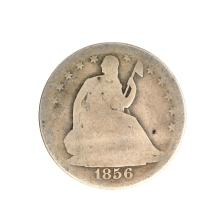1856 Liberty Seated Half Dollar Coin
