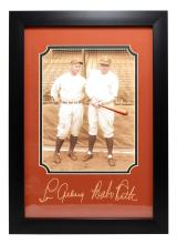 Rare Plate Signed Babe Ruth And Lou Gehrig Photo Great Memorabilia