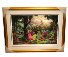 Rare Thomas Kinkade Original Limited Edition Numbered Lithograph Plate Signed Museum Framed ''Sleeping Beauty''