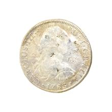 1783 Extremely Rare Eight Reales American First Silver Dollar Coin