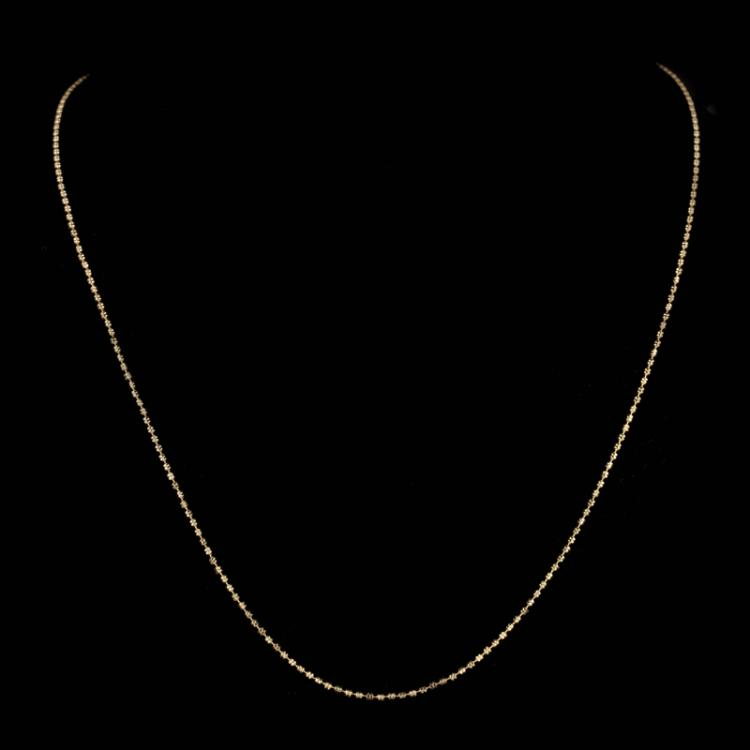 *Fine Jewelry 14KT Gold, 3.8GR, 18'' Double Bead Chain (GL 3.8-9)