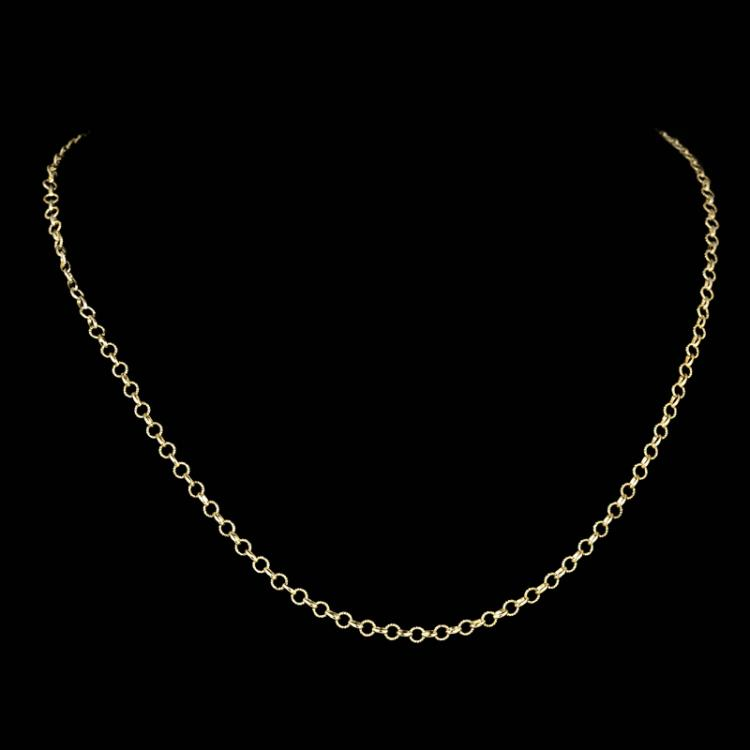 *Fine Jewelry 14KT Gold, 4.8GR, 18'' Twisted Round And Shiny Link Chain (GL 4.8-15)