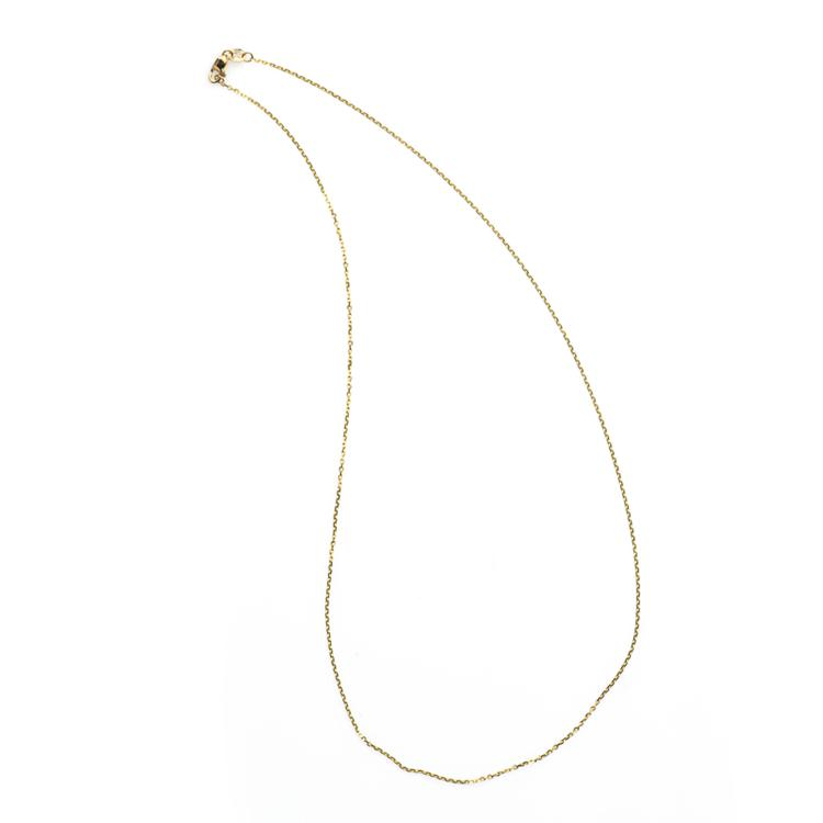 *Fine Jewelry 14KT Gold, Diamond Cut, 1.8GR. 18'' Chain Necklace (GL Neck 1A/Neck1 1B))