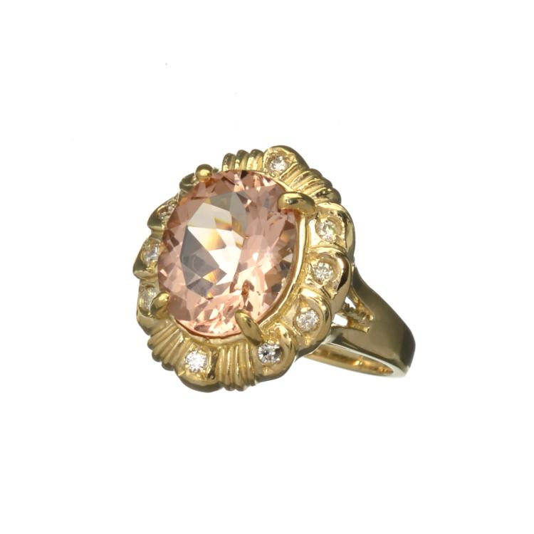 APP 7 2k Fine Jewelry 14kt Gold 4 43CT Champagne Beryl Mo