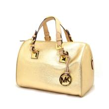 Brand New Michael Kors Grayson Leather Pale Gold Medium Tote