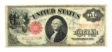 Rare 1917 $1 Red Seal Large Size Note