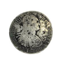 1806 Eigth Reales American First Silver Dollar Coin