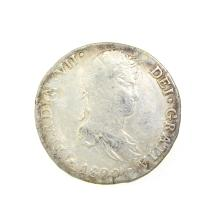 1820 Extremely Rare Eight Reales American First Silver Dollar Coin