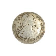 1804 Eigth Reales American First Silver Dollar Coin
