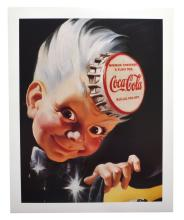 Collectable Coca Cola Advertising Poster (16'' x 20'') (Dimensions Are Approximate)