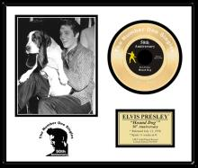 ELVIS PRESLEY ''Hound Dog '' Gold Record-50th Anniversary
