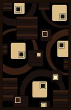 Gorgeous 4x6 Emirates Black & Brown 529 Rug  Plush, High Quality Made in Turkey (No Rug Sold Out Of Country)