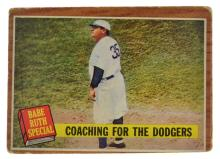 ^1962 Topps #142 Babe Ruth Special Coaching For The Dodgers