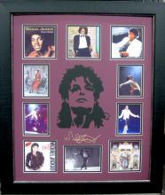 Michael Jackson Engraved Signature Laser Cut Mat