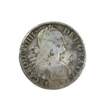 1808 Eigth Reales American First Silver Dollar Coin