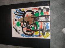 Authenitc Joan Miro Signed And Numbered Azi Lithograph From Album 19 Suite 29/75 Size 20X26