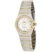 *Omega Women's Constellation Stainless Steel Case, Stainless Steel Bracelet, White Mother of PearlDial, AuTomatic Movement, Water Resistant Up To 3 ATM (DM O1365.71)
