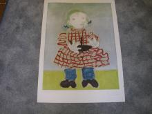 Portrait De Fille Lithograph by Pablo Picasso Signed and Numbered 78/200 22X29