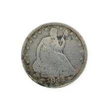 Rare 1854 Arrows At Date Liberty Seated Half Dollar Coin