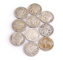 10 Misc. Buffalo Nickel Coins