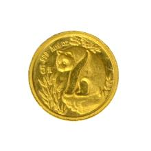 *1989 1/20th Small Date Gold Panda Coin (JG PS)