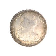 1808 Eight Reales American First Silver Dollar Coin